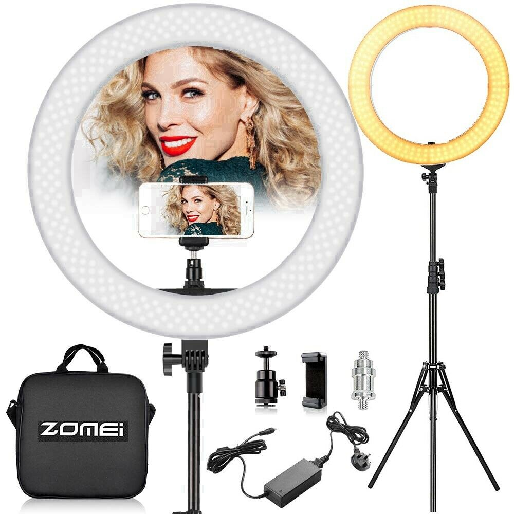 """ZOMEI 18"""" Dimmable Lighting Photography LED Light with Stand"""