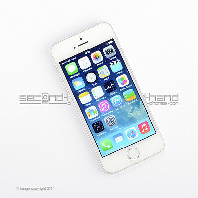 Apple iPhone 5S 16GB White/Silver (Unlocked) - 1 Year Warranty - Good Condition