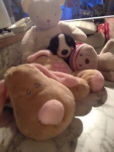Keel-toys-BABYS-1st-PUPPY-comforter-rattl-M-S-light-up-bear-baby-hugs-xmas-bear