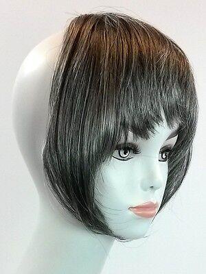 Clip On Bangs Hair Extension 100% Kanekalon Gray, Auburn, Blonde, Brown, Black