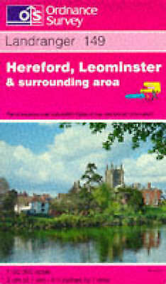 1 of 1 - Acceptable, Hereford, Leominster and Surrounding Area (Landranger Maps), Ordnanc