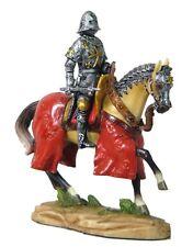 "4"" Armored Crusader On Horseback Knight Medieval Times Statue Figurine Figure"