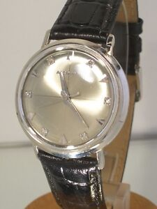 Vintage-Bulova-Accutron-Diamond-Dial-cal-214-Bj-1966-weissvergoldet-incl-Box