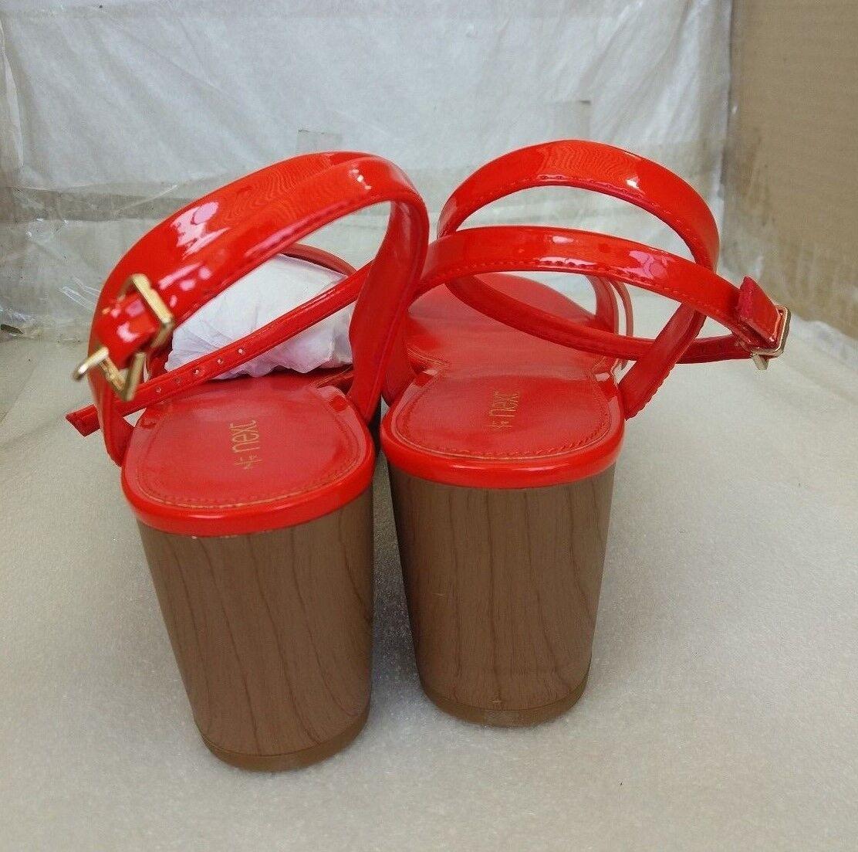 NEXT Orange Stylish Summer Wedge Sandales - Patent Orange NEXT - UK 7/EU 41 7aa69b