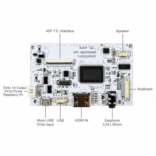 """HDMI Board With 5/"""" 800x480 LCD Screen Fit To Raspberry Pi HDMI Input Board"""