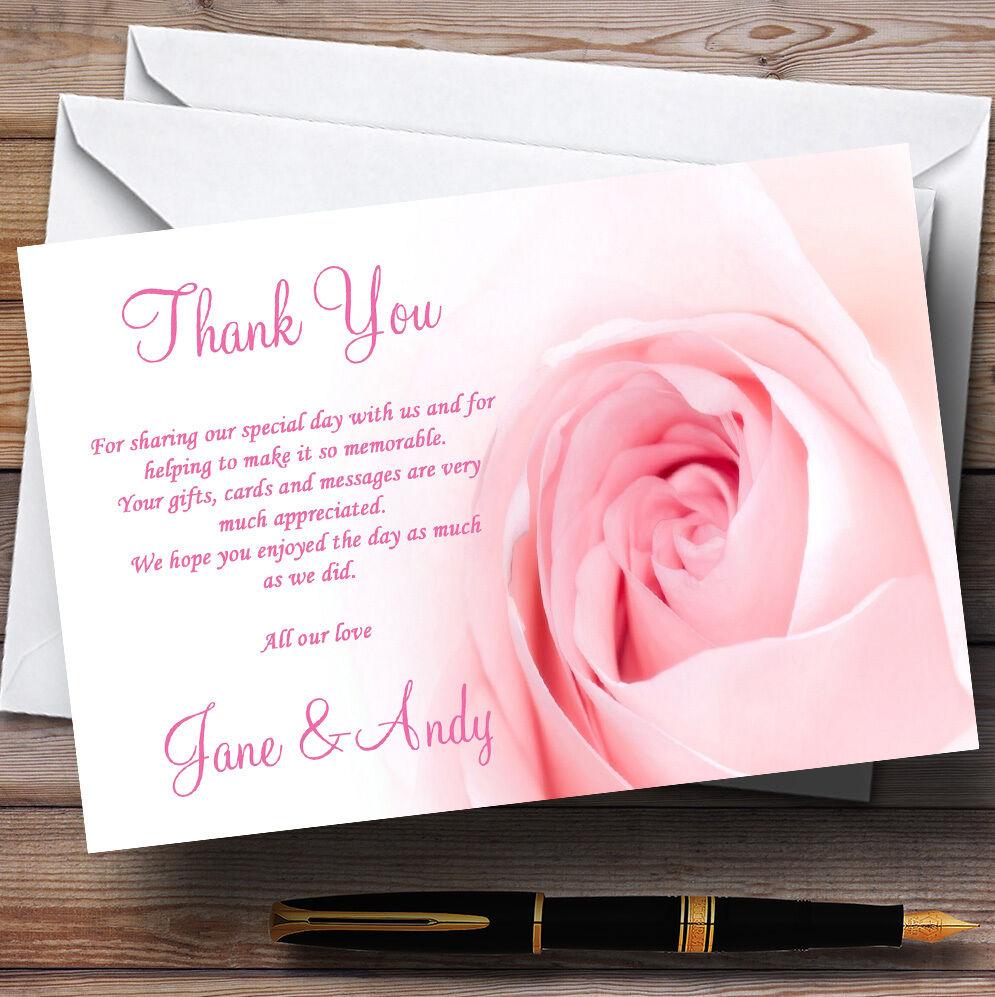 Superbe bébé RemercieHommes rose pâle rose mariage Personnalisé Cartes RemercieHommes bébé t 0b3b15