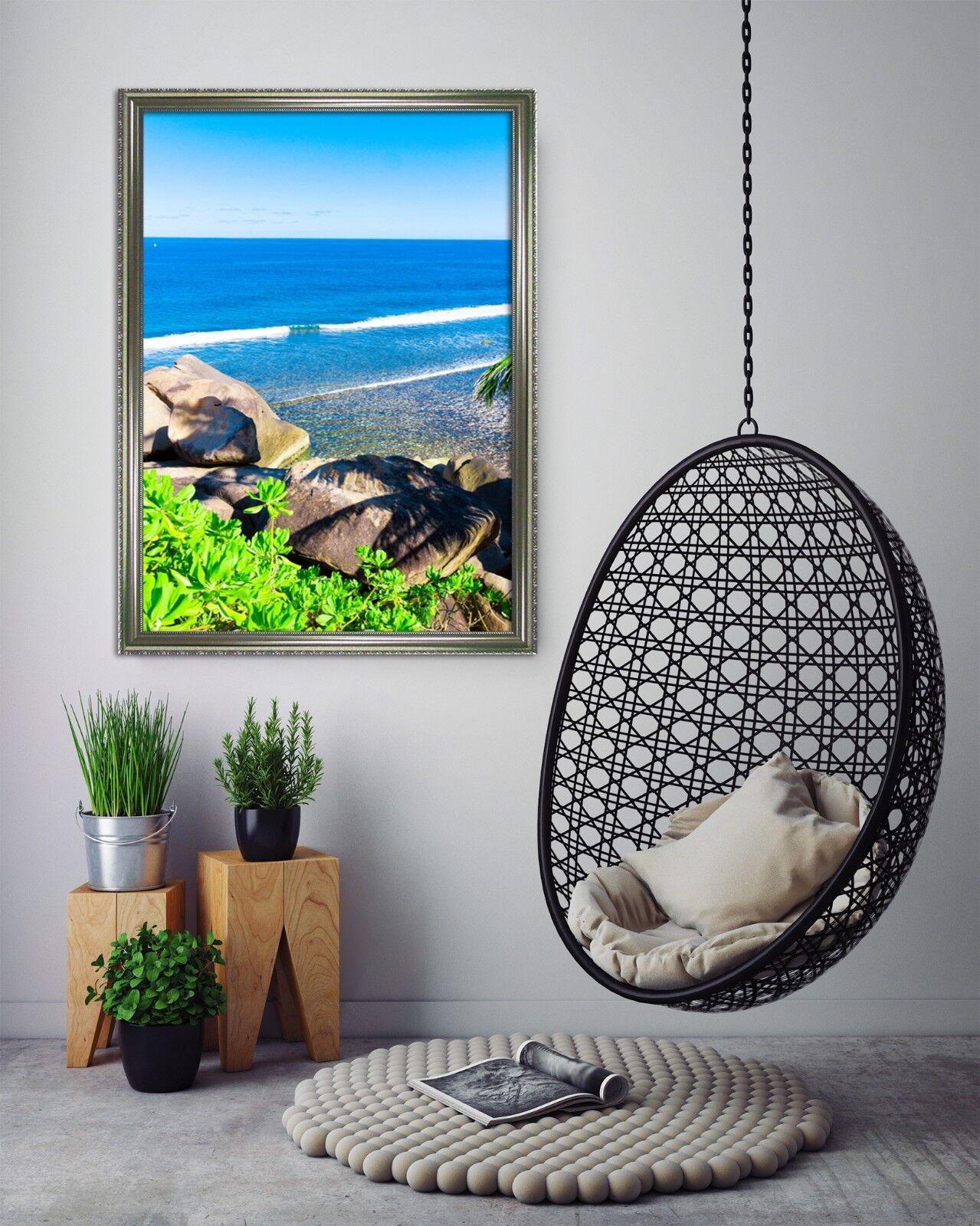 3D Big Stone 6 Framed Poster Home Decor Print Painting Art AJ AU