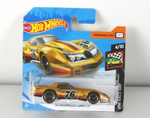 Hot Wheels 2020 /'76 Greenwood Corvette 4//10 Race Day 34//250 nuevo embalaje original ghc50 New