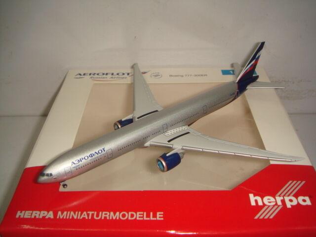 Herpa Wings 500 Aeroflot B777-300ER  2000s Coloree-I. Bunin  1 500 NG
