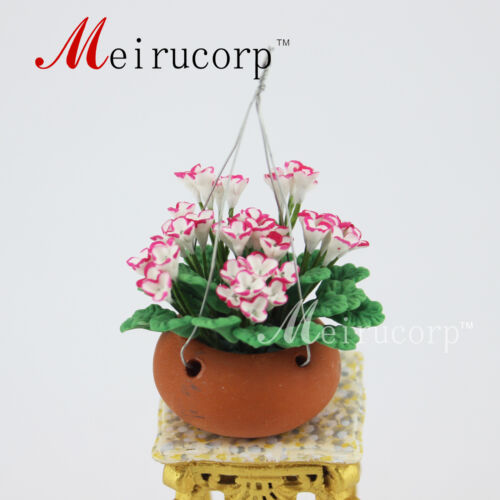 dolls house miniataures Beautiful shaped flowers and flower pots