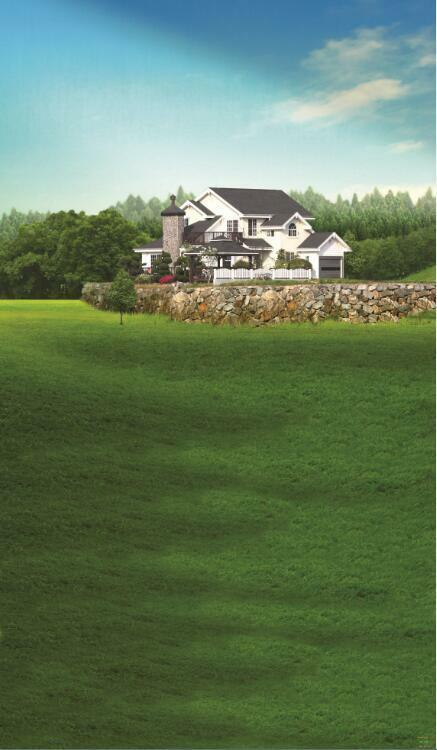3D House vast Grün lawn Wall Paper Wall Print Decal Wall Deco Indoor wall Mural