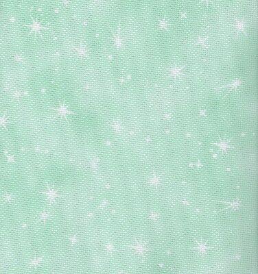 Fabric Flair Fairy Dust Cloud Turquoise 16 count Aida  45 x 50cm