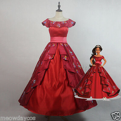 Princess Elena Dress Elena and the Secret of Avalor Adult Cosplay Costume Party
