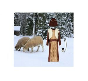 Christmas Nativity Brown Shepherd With Sheep Costume 3-4 New Tags
