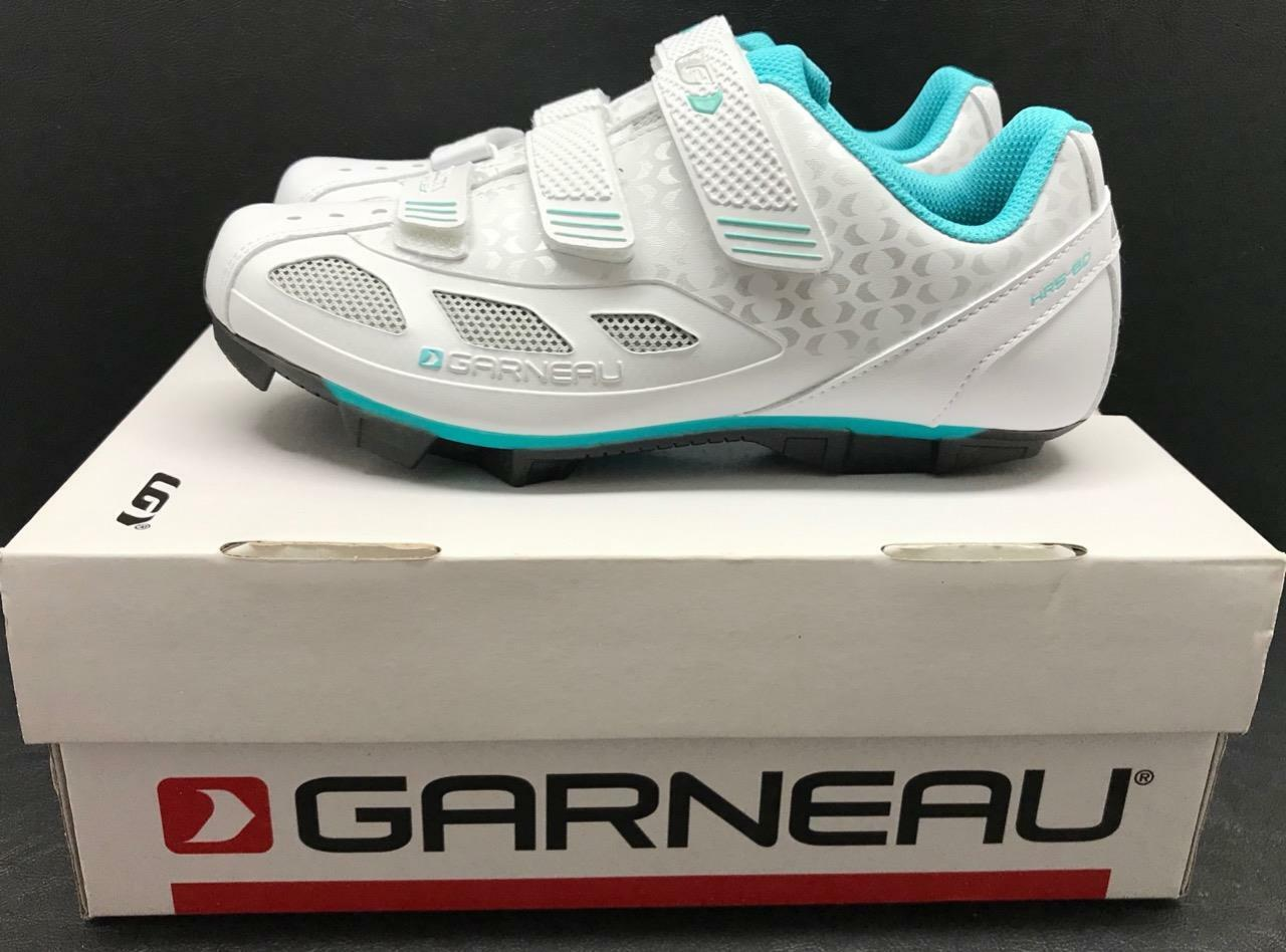 NEW IN BOX Garneau Multi Air Flex  Women's Cycling shoes Size 7.5 White Teal  cheap online