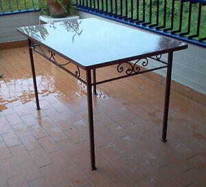 Tavolo Pranzo Tavolino Salotto FERRO BATTUTO Realizzazioni ...