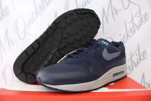 43206d9b8c Details about NIKE AIR MAX 1 PREMIUM SZ 9.5 OBSIDIAN NAVY BLUE FURY BLACK  CARBON 875844 401