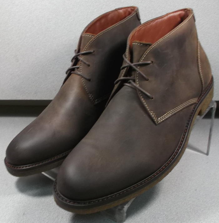 251870 MSBT50 Men's shoes Size 11.5 M Dark Brown Leather Boots Johnston Murphy