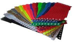 100 PVC-Kontrollbä<wbr/>nder- wristbands -  in einer Farbe - mehrere Farben verfügbar!