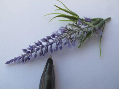 2 Miniature Purple Lilac Spike Flower Plant Bush Powdery Leaves Dollhouse F63