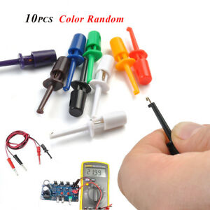10 × Multimeter Wire Lead Hook Clip Electronic Testing Probe Grabber Connector