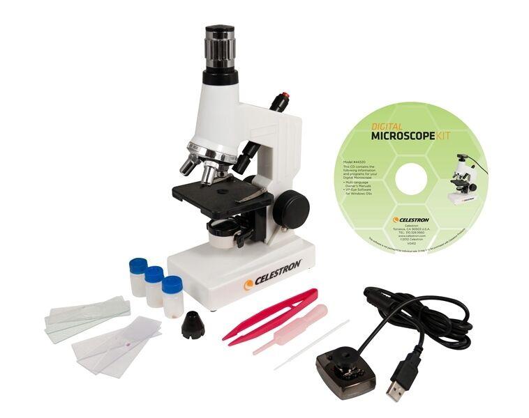 Microscopio Digital Celestron Kit - 40X a 600X Power-Celestron  44320
