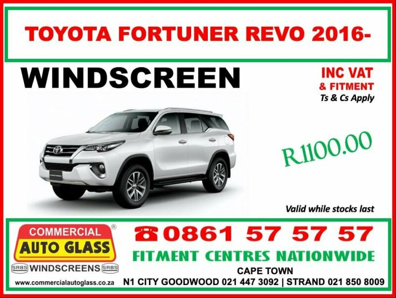 Toyota Windscreen Specials - Commercial Auto Glass