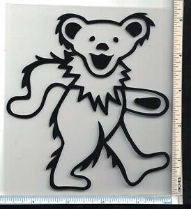 Grateful Dead Dancing Bear Sticker 5 Tall Die Cut Black Outline Ebay