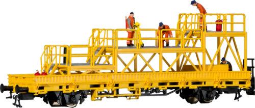 H0 Fertigmodell Kibri 26262 Niederbordwagen mit Arbeitsbühne GleisBau