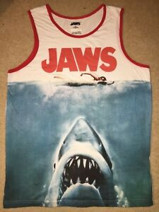 JAWS movie GREAT WHITE shark HORROR Vintage Retro MEN'S New T-Shirt Shirts
