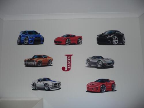 1997-2013 Corvette Z-06 LS7 505HP Cartoon Car Wall Graphic Decal Man Cave Decor