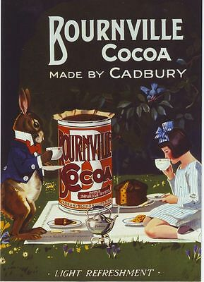 1930's Cadbury Bournville Advertising Poster A3 / A2 Print