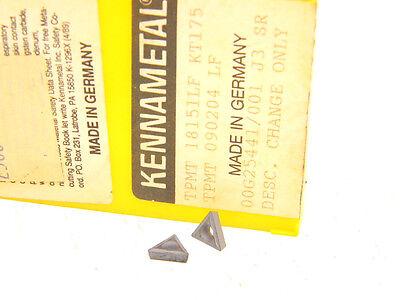 10 New Surplus Kennametal TPMT 18151-LF KT175 Cermet Inserts TPMT 090204LF