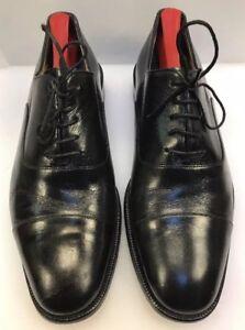 Bruno-Magli-Men-9-5-M-Zana-Cap-Toe-Oxfords-Black-Leather-Italy-Made-01001