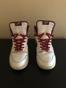 sports shoes a30be 8d087 Image is loading Nike-SB-Dunk-High-Mafia-White-College-Red-
