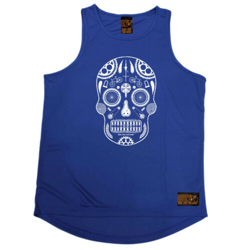 Ride Like The Wind Cycle Skull Parts Cycling funnyáBirthdayáTRAINING VEST