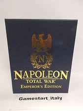 NAPOLEON TOTAL WAR EMPEROR'S EDITION - PC - NUOVO SIGILLATO NEW ULTRA RARE