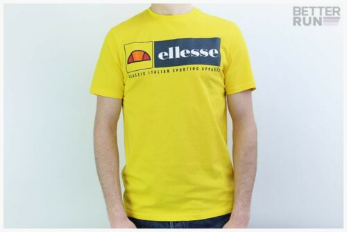 Ellesse Heritage T-Shirt-riveria Shirt-Yellow