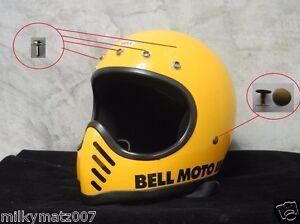 582f28ac Bell moto 3 moto3 moto III Rivet snap button sets vintage helmet ...