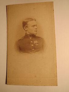 CompéTent Soldat En Uniforme Avec Orden-violettes-volontaire? - Portrait/cdv-williger ? - Portrait / Cdv Fr-fr Afficher Le Titre D'origine