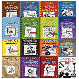 Diary Of A Wimpy Kid 16 Books Collection Set By Jeff Kinney The Meltdown Etc 9780241351802 Ebay