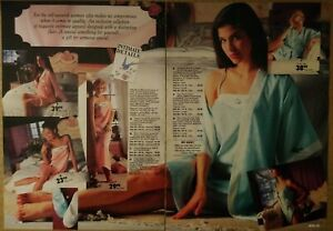 1991-Vintage-PAPER-PRINT-AD-2-pg-silky-jacquard-satin-lingerie-baby-doll-lady