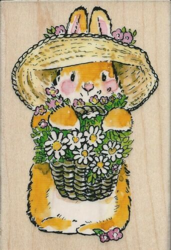 """Bunny Bouquet"" Rubber Stamp by Penny Black"