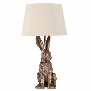 Hare table lamp metallic sculpture ornamental easter rabbit bedside image is loading hare table lamp metallic sculpture ornamental easter rabbit aloadofball Image collections