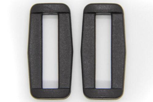 10 Trägerschnallen 30 mm Gurtband Schlaufe Kunststoff Schnalle