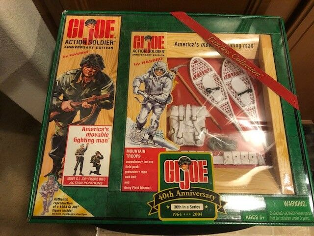 G.I. JOE 40TH ANNIVERSARY  30 ACTION SOLDIER MOUNTAIN TROOPS EQUIPSieT SET