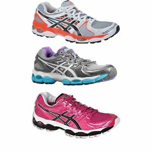 33cfe746 Details about NEW LADIES WOMENS ASICS GEL NIMBUS 14 RUNNING TRAINING  RUNNERS GYM SPORT SHOES