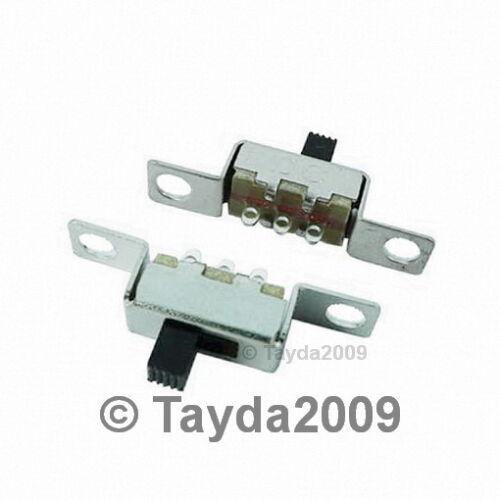 5 x Vertical Slide Solder Lug 0.5A Slide Switch 1P2T