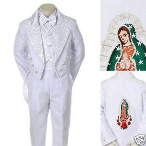 45e28fecd NEW White Boy Christening Baptism Communion formal Tuxedo Suit size  Kindermode, Schuhe & Access.