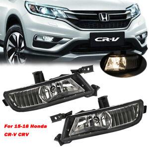 Left Side Fit For Honda CR-V CRV 2015 2016 Front Bumper Fog Light Driving Lamp